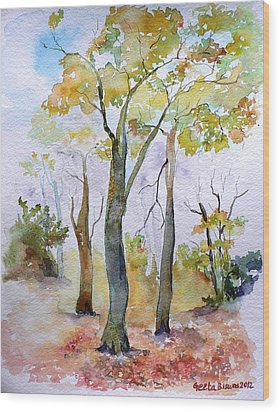 Autumn Wood Print by Geeta Biswas