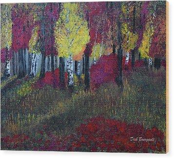 Autumn Peak Wood Print