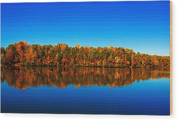 Wood Print featuring the photograph Autumn Reflections by Andy Lawless