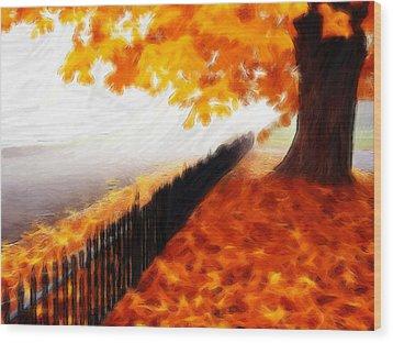 Autumn Wood Print by Steve K