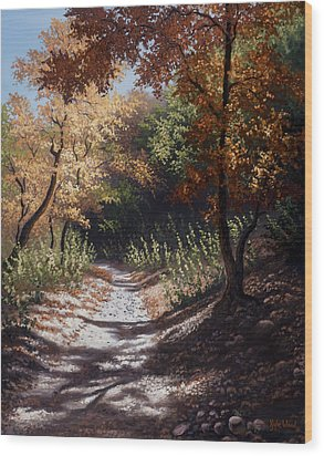 Autumn Trails Wood Print