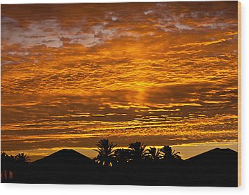 1 Awsome Sunset Wood Print
