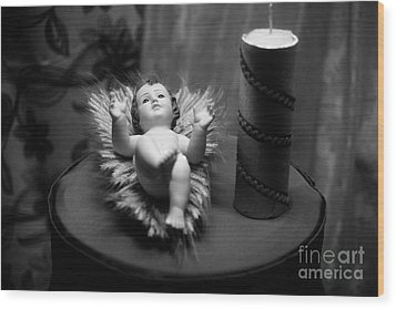 Baby Jesus Wood Print by Gaspar Avila