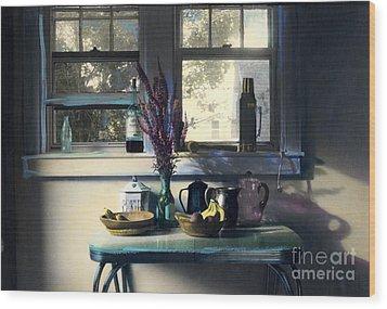 Bachelor's Kitchen - V Wood Print