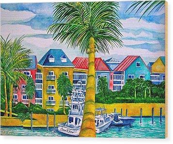 Bahamian Blues Wood Print