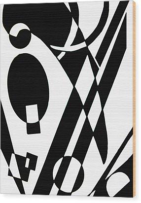 Balance Wood Print by Shabnam Nassir