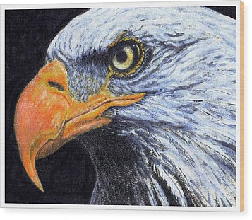 Wood Print featuring the digital art Bald Eagle by David Blank