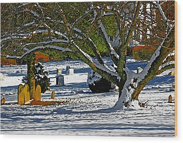 Baldwin Memorial United Methodist Church Cemetery Wood Print