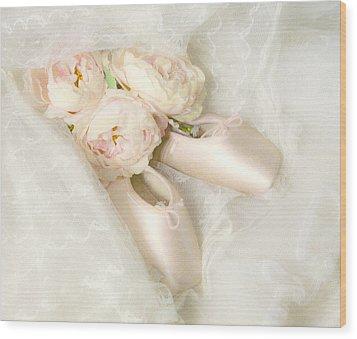 Ballet Shoes Wood Print by Theresa Tahara