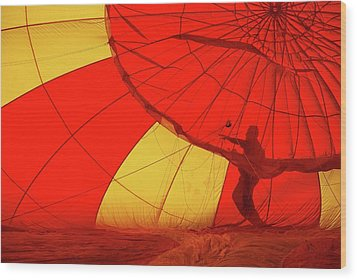 Wood Print featuring the photograph Balloon Fantasy 2 by Allen Beatty