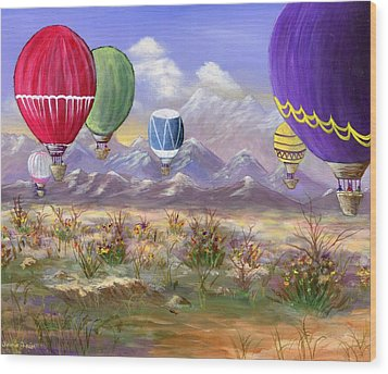 Balloons Wood Print by Jamie Frier