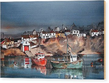 Ballycotton Harbour East Cork Wood Print