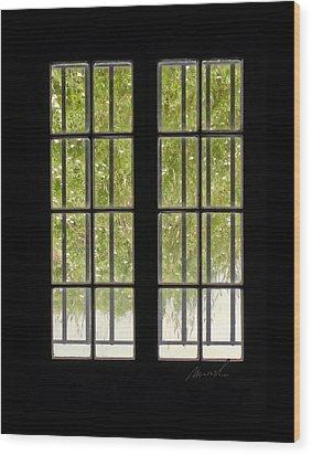 Barred Wood Print by The Art of Marsha Charlebois