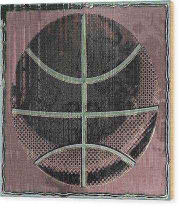 Basketball Abstract Wood Print by David G Paul