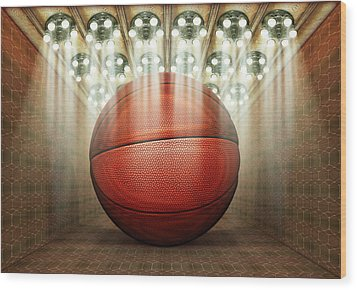 Basketball Museum Wood Print by James Larkin