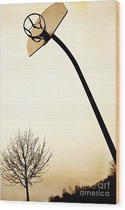 Basketball Net Wood Print by Birgit Tyrrell