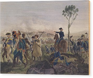 Battle Of Bennington, 1777 Wood Print by Granger