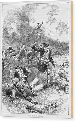 Battle Of Bunker Hill, 1775 Wood Print by Granger