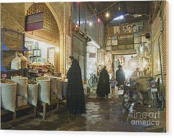 Bazaar Market In Isfahan Iran Wood Print