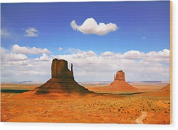 Beautiful Landscape Of  Monument Valley Arizona Wood Print by Katrina Brown