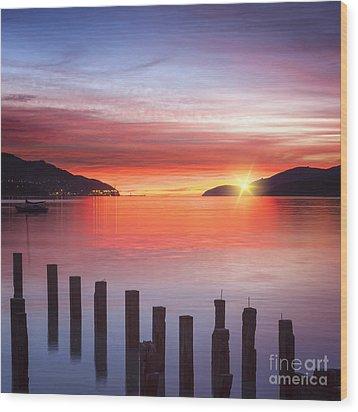 Beautiful Sunrise Wood Print by Colin and Linda McKie
