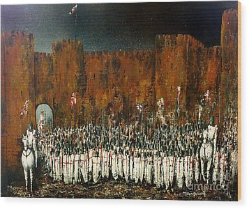 Before Battle Wood Print by Kaye Miller-Dewing