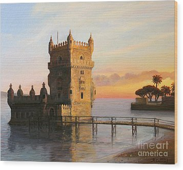 Belem Tower In Lisbon Wood Print by Kiril Stanchev