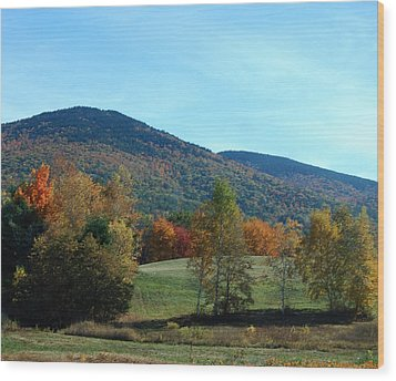 Wood Print featuring the photograph Belknap Mountain by Mim White