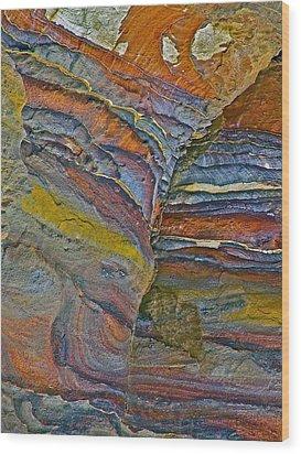 Belly Eyes Rock In Petra-jordan Wood Print by Ruth Hager