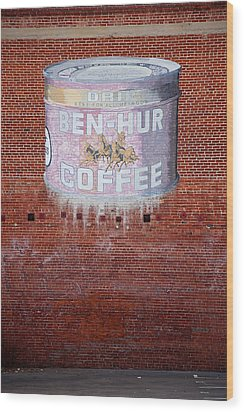 Ben Hur Coffee Wood Print by Peter Tellone