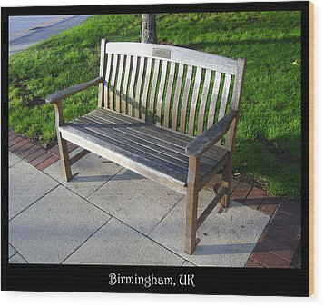Bench 09 Wood Print by Roberto Alamino