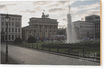 Berlin - Brandenburg Gate Wood Print by Gregory Dyer