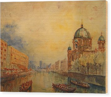 Berlin Wood Print by Juan  Bosco