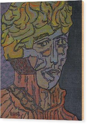 Bernard  Wood Print by Oscar Penalber