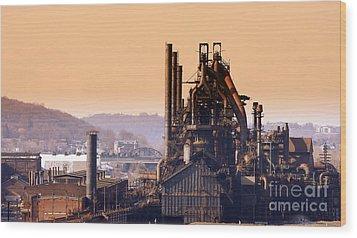 Bethlehem Steel  Sold 3 Wood Print