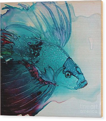 Betta Dragon Fish Wood Print