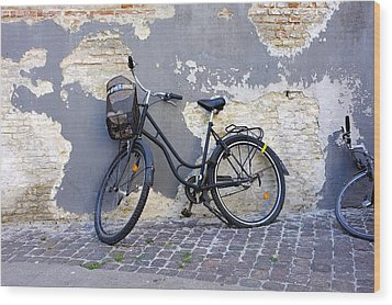 Bicycle Copenhagen Denmark Wood Print by John Jacquemain