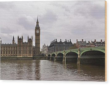 Big Ben Wood Print by Andres LaBrada