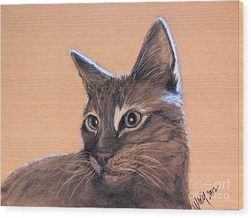 Big Kitten Wood Print