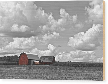 Big Sky Wood Print by Frozen in Time Fine Art Photography