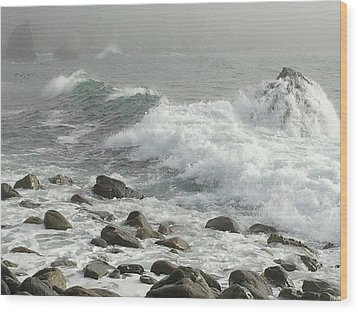 Big Sur Wood Print by Justin Moranville