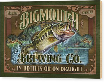 Bigmouth Brewing Wood Print by JQ Licensing