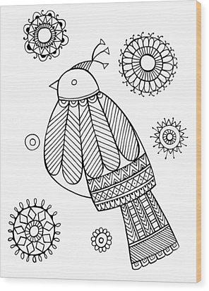 Bird Dove Wood Print by Neeti Goswami