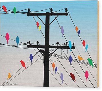 Birds  Wood Print by Mark Ashkenazi