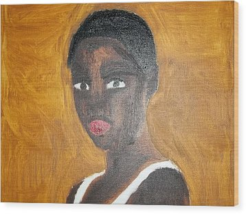 Black African American Woman Of 2013 Wood Print by William Sahir House