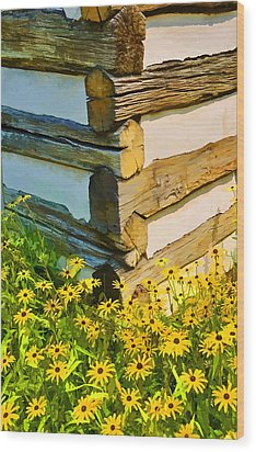 Wood Print featuring the photograph Black-eyed Susans by Dana Sohr