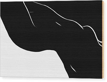 Black Magic Woman Wood Print by Steve K
