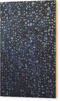 Black Rain Wood Print by Donna Blackhall
