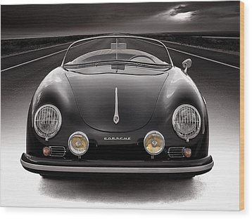 Black Speedster Wood Print