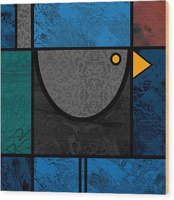 Blackbird Wood Print by Kenneth North